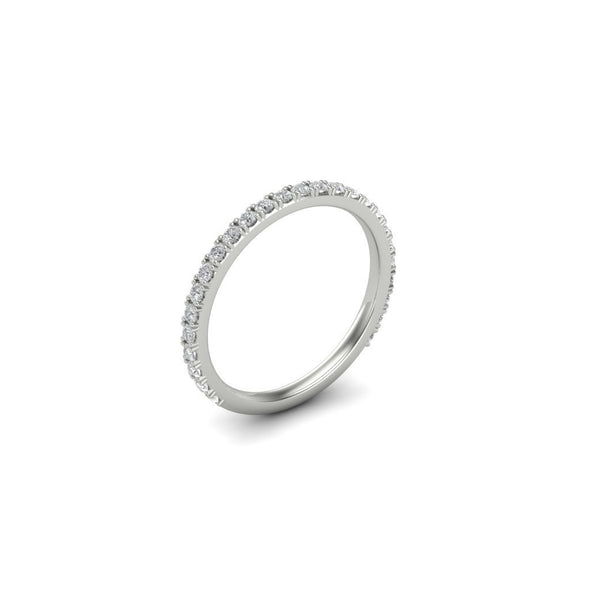Radiant Cut Lab-created Sapphire Wedding Set in 925 Sterling Silver with Eternity Bands