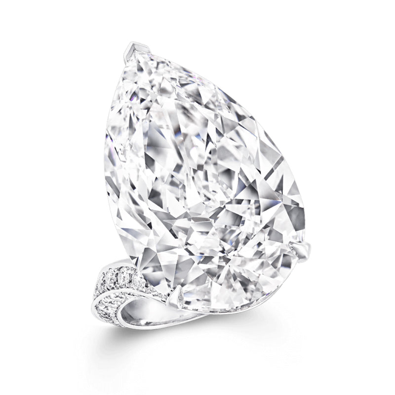 Cnvpk 6 Ct Flawless Pear Cut Unique 925 Silver Engagement Ring