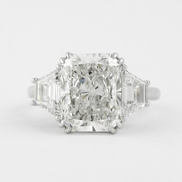 Cnvpk 10 Ct Radiant Cut Vintage-inspired 925 Silver Engagement Ring