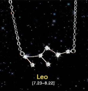 Leo - Creative 12 Constellation CZ Astrology Horoscope Sign Necklace