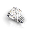 5.6 Ct Round Brilliant Lab-created Diamond Blossom Engagement Ring in 925 Sterling Silver