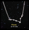 Pisces - Creative 12 Constellation CZ Astrology Horoscope Sign Necklace