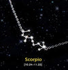 Scorpio - Creative 12 Constellation CZ Astrology Horoscope Sign Necklace