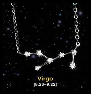 Virgo - Creative 12 Constellation CZ Astrology Horoscope Sign Necklace