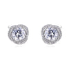 Round Cut Lab-created Sapphire Twist Stud Earrings in 925 Sterling Silver