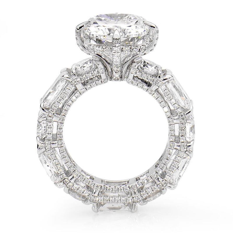 Cnvpk 3Ct Radiant Cut White Sapphire Engagement Ring in 925 Silver
