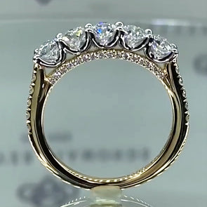 4 CT Round Brilliant Halo Lab-created Diamond Sterling Silver Engagement Ring
