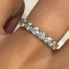2.5CT Round Cut Sterling Silver Wedding Band