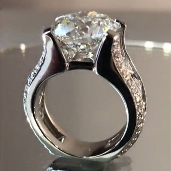 2 CT Round Brilliant Lab-created White Sapphire Engagement Ring