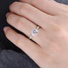 3CT Round Cut Twist Sterling Silver Engagement Ring