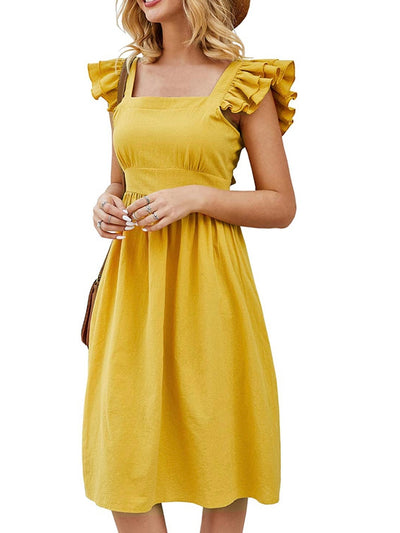 Yellow Ruffles Dress