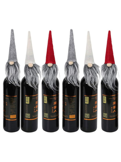 Set of 6 Gnome Bottles Caps