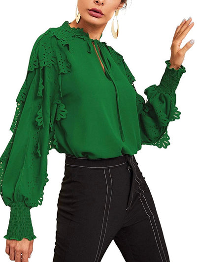 Green Ruffles Top