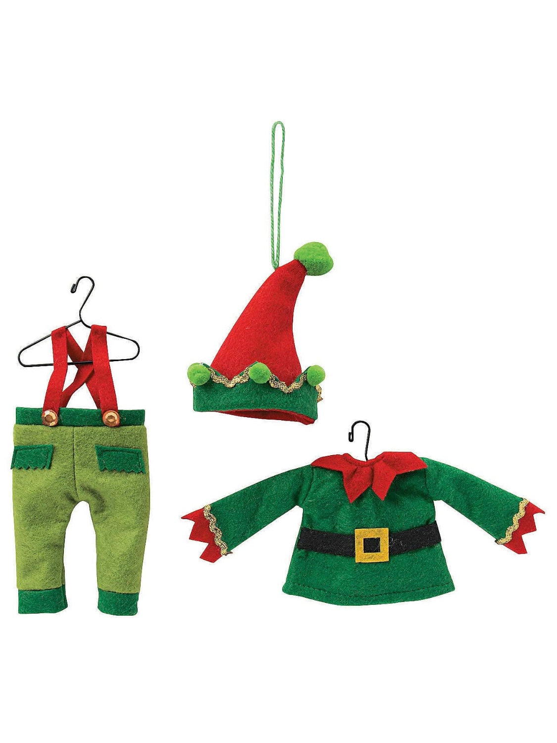 Elf Costumes Christmas Tree Ornaments