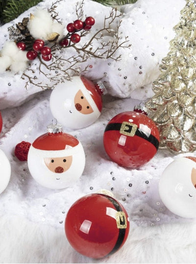 Santa Christmas Ball Ornaments