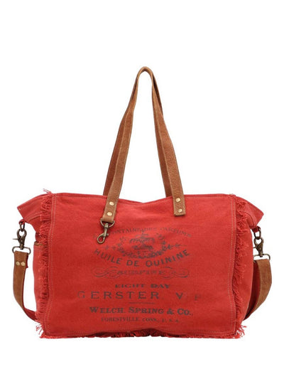 Red Coral Canvas Bag