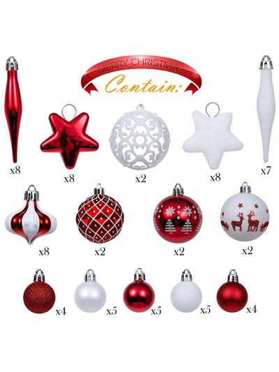 Set of 70 Christmas Ornaments