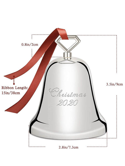 Christmas bell measures with red ribbon