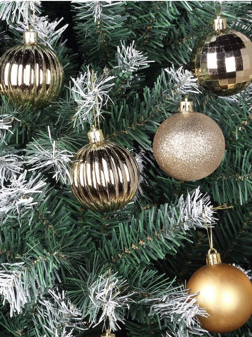 decorative balls for Christmas tree in various designs