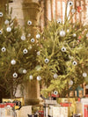 silver balls to decorate Christmas trees