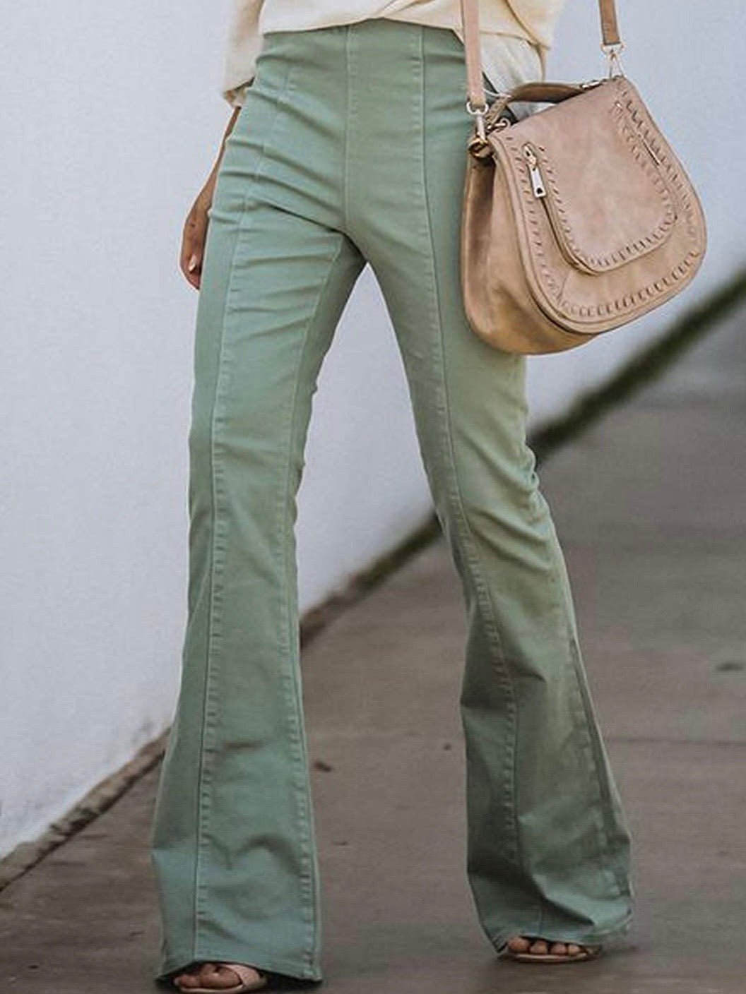 Stretch green jeans