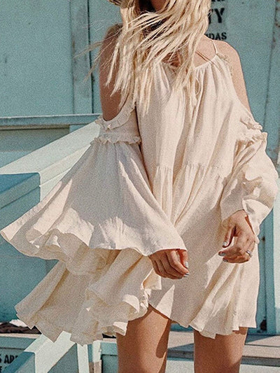 Beige Layers Dress