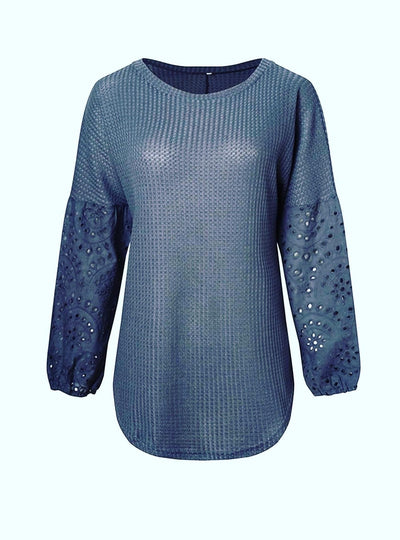 Gray Bobo Neck Sweater