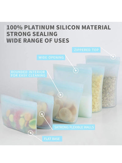 Set of 6 Silicon Bags