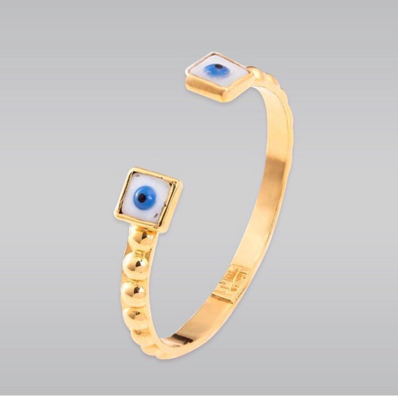 Eyes Gold Bracelet by Dos A Cuadrado