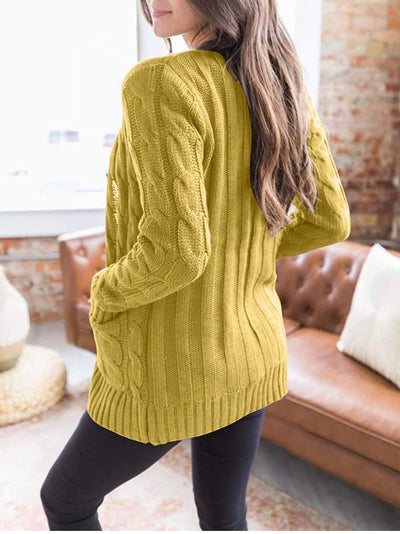 Open Yellow Sweater