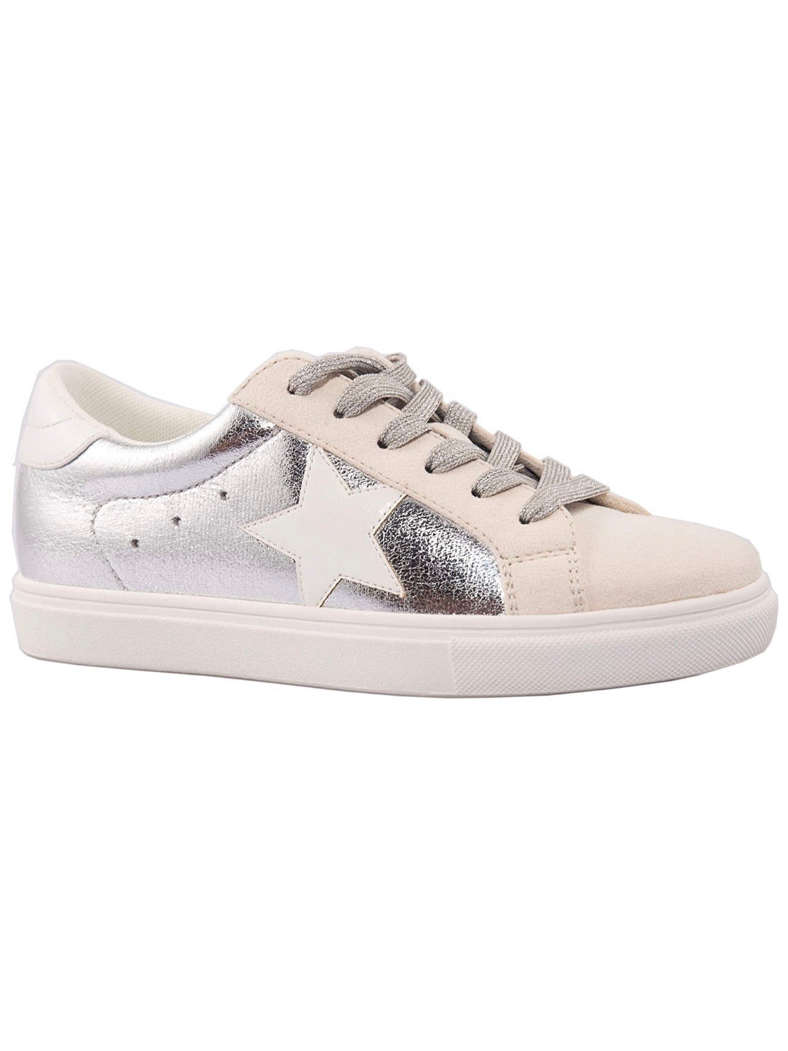 White Star Silver Sneakers