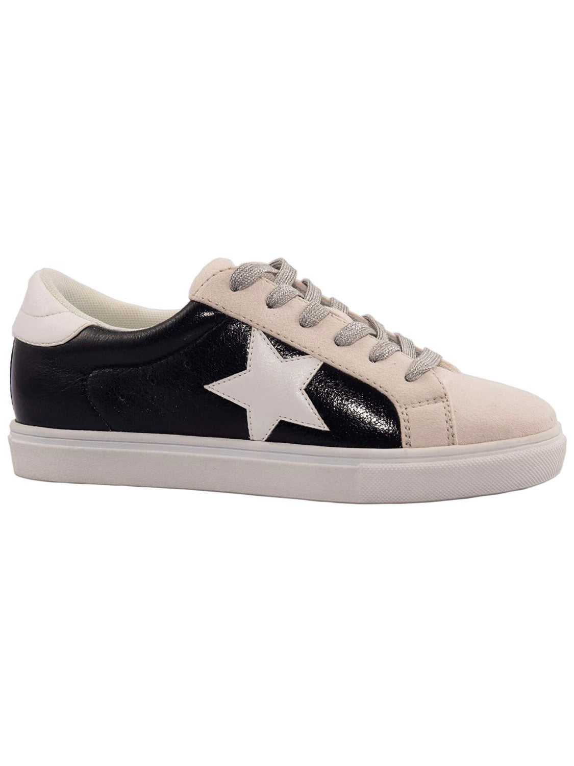 White Star Black Sneakers