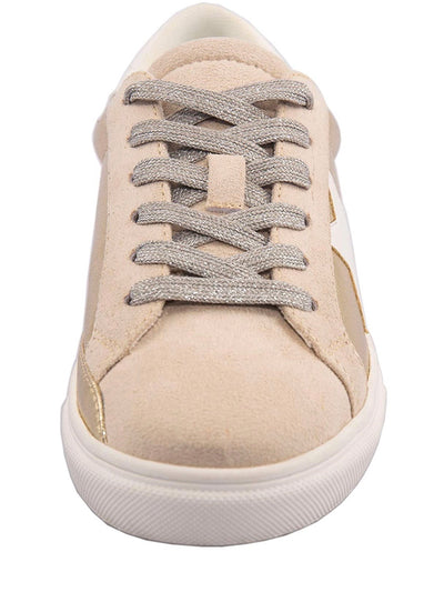 White Star Gold Sneakers