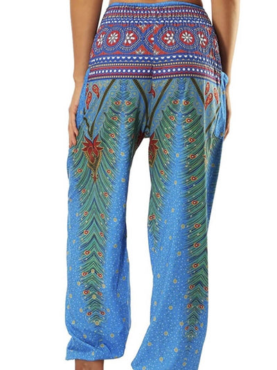 Bohemian jogger back with elastic waist and ankles