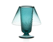 Colored Glass Hurricane Lamp, Large