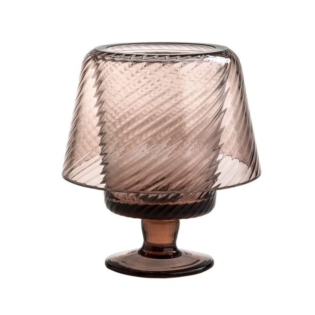 Colored Glass Hurricane Lamp, Small