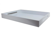 Lacquered White Ottoman Tray