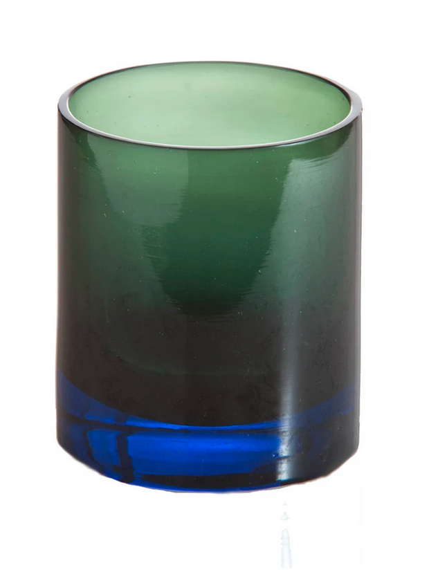Blue and Green Ombre Old Fashioned Glass