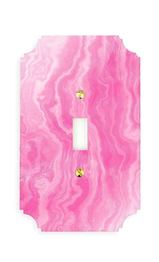 Pink Agate Switch Plate