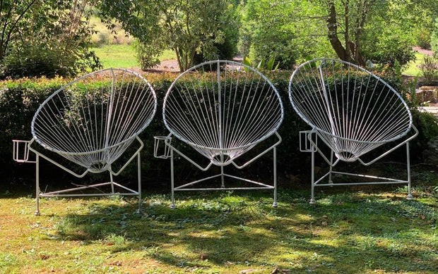 White Metal Chairs-set of four
