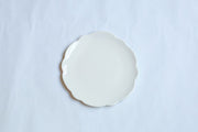 Melamine Cream Scallop Salad Plate
