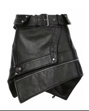 Load image into Gallery viewer, Get Scored ™ -  Sexy Assymetric faux leather skirt with zip. - Destiny Bargain