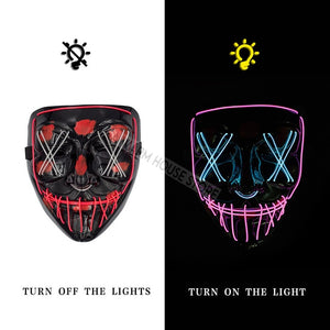 Halloween Party & Rave Glow Mask - Destiny Bargain