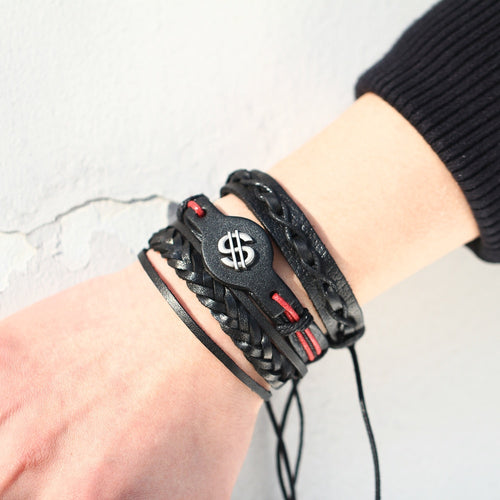 Vintage Multilayer Leather Bracelet - Destiny Bargain