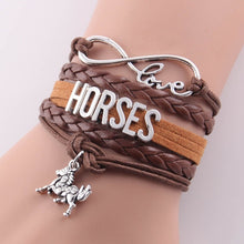 Load image into Gallery viewer, Rider's Infinity love HORSES bracelet - All Colors - Destiny Bargain