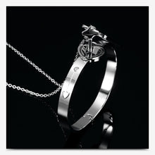 Load image into Gallery viewer, Heart Lock Bracelet & Key Necklace Couples Set - Destiny Bargain