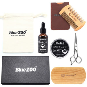 "Blue ZOO's Natural Organic Beard Care Kit ""7 Pcs"" - Destiny Bargain"