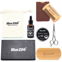 "Load image into Gallery viewer, Blue ZOO's Natural Organic Beard Care Kit ""7 Pcs"" - Destiny Bargain"