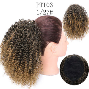 Short Afro Curly Ponytail Hair Extensions - Destiny Bargain