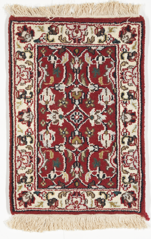 Traditional Hand Knotted Red Wool Rug 1'4 x 2' - IGotYourRug
